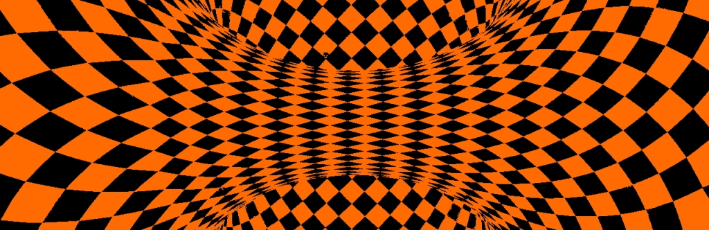 Orange and Black Wormhole Optical Illusion